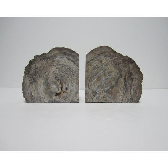 Vintage Gray Geode Bookends - A Pair - Image 7 of 7