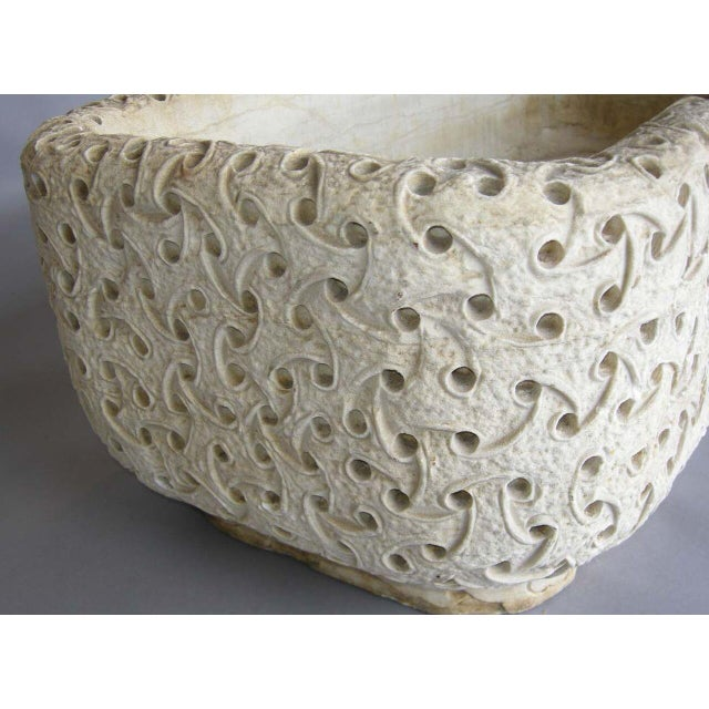 Carved Marble Planter For Sale In Los Angeles - Image 6 of 8