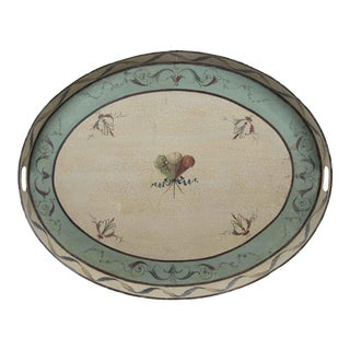Vintage Tray in Muted Country Palette For Sale