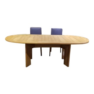 Mid Century Modern Danish Kovby Teak Hidden Leaf Pull Out Dining Table For Sale