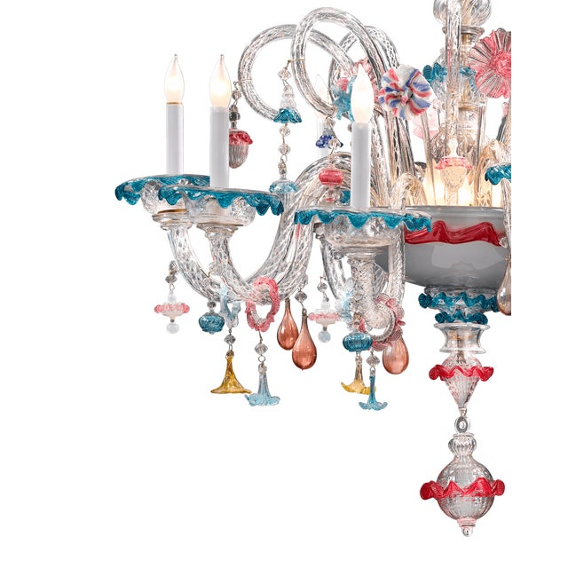 Venetian Murano Glass Chandelier - Image 3 of 4