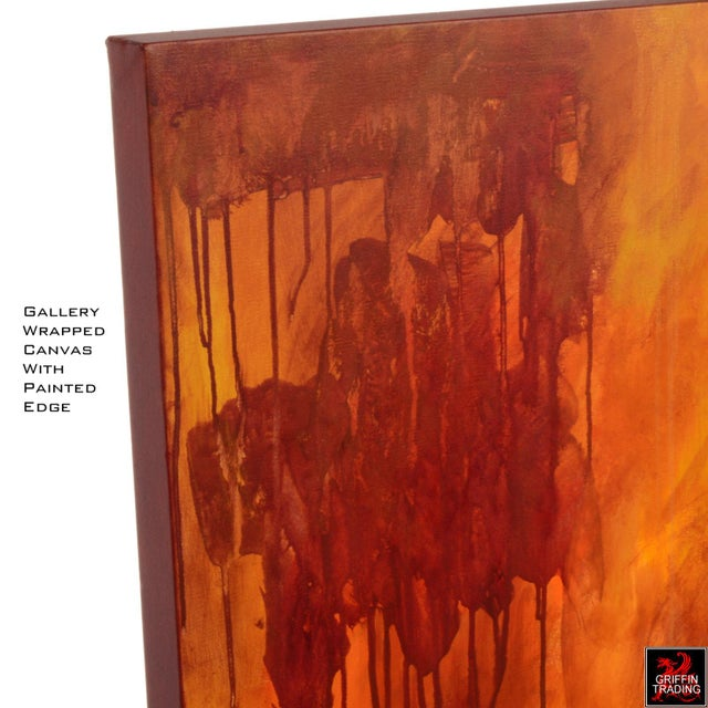 Luminous Sea Abstract Painting For Sale In Dallas - Image 6 of 7
