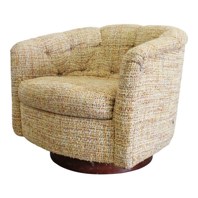 Mid-Century Modern Milo Baughman Thayer Coggin Swivel Rocker Lounge Chair For Sale