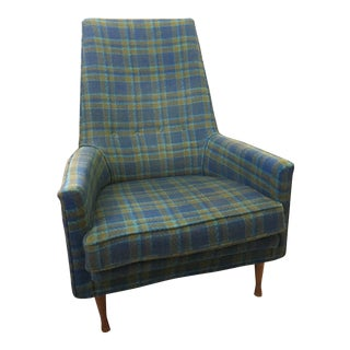 Paul McCobb Symmetric Group Plaid Chair For Sale