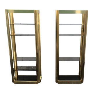 Vintage Brass Eterages a Pair For Sale