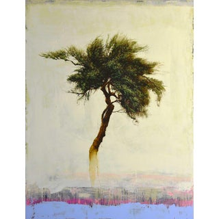 Robert Marchessault, 'Inconnu' Contemporary Abstract Tree Mixed Media Painting For Sale