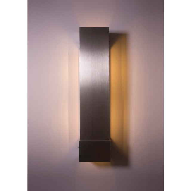Contemporary Modern Contemporary 001 Picture Light in Nickel by Orphan Work For Sale - Image 3 of 6
