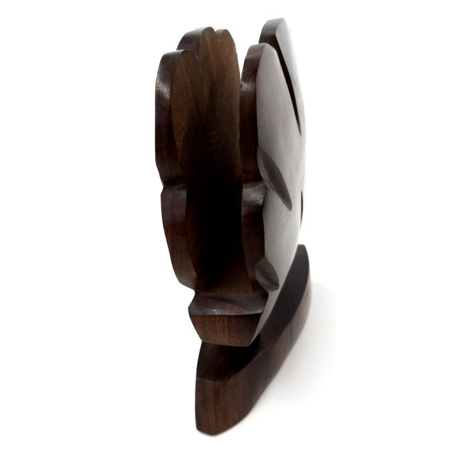 Heavy Ironwood Napkin or Letter Holder For Sale - Image 9 of 10