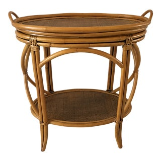 Contemporary Rattan Tray Table