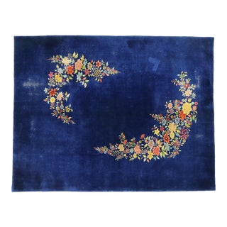 Antique Chinese Art Deco Rug With Walter Nichols Style - 08'09 X 11'07 For Sale