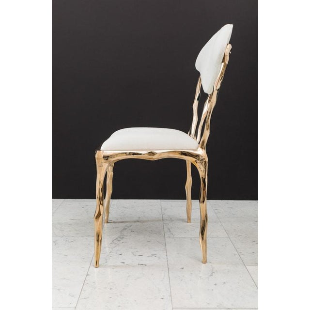 Markus Haase Markus Haase, Faceted Bronze Dining Chair, Usa, 2018 For Sale - Image 4 of 13