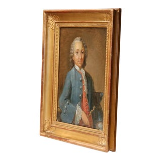 Framed Painting of the Marquis De Rochambeau For Sale