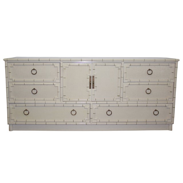 Hickory Mid-Century Faux-Bamboo Dresser - Image 1 of 9