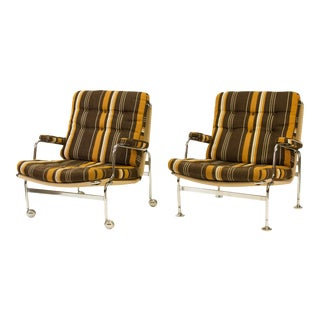 1970s Bruno Mathsson for Dux of Sweden Karin Chairs - a Pair
