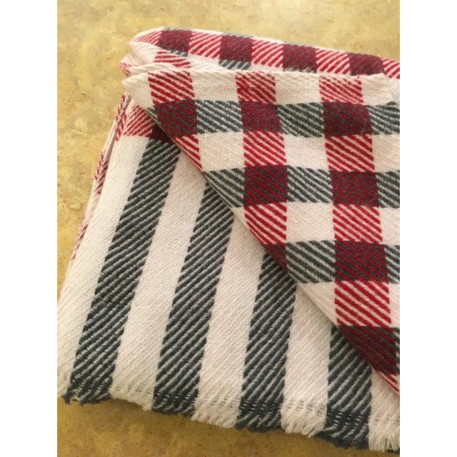 Black & Red Plaid Cashmere Blanket - Image 4 of 8