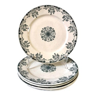 Sarreguemines French Transferware Plates, Set of 5 For Sale