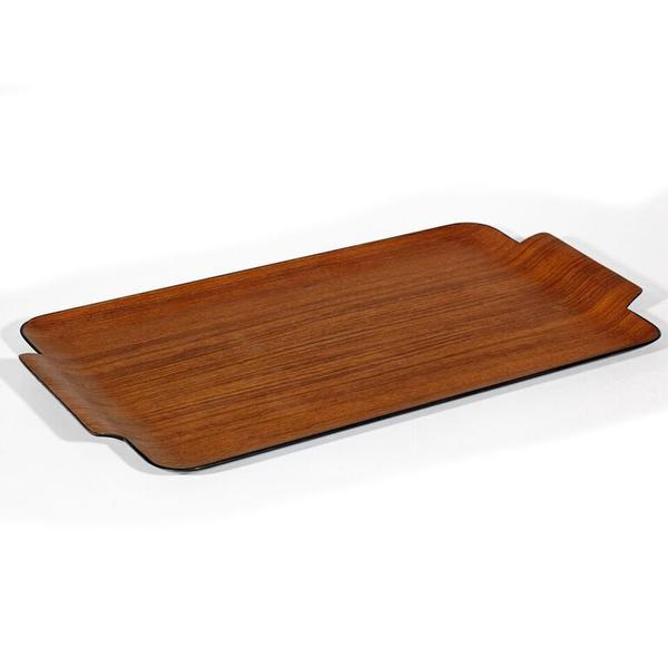 Modern Teak Wood Tray For Sale - Image 4 of 4