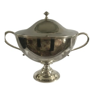 Vintage Mid 20th Century Silver Plate Soup Tureen For Sale