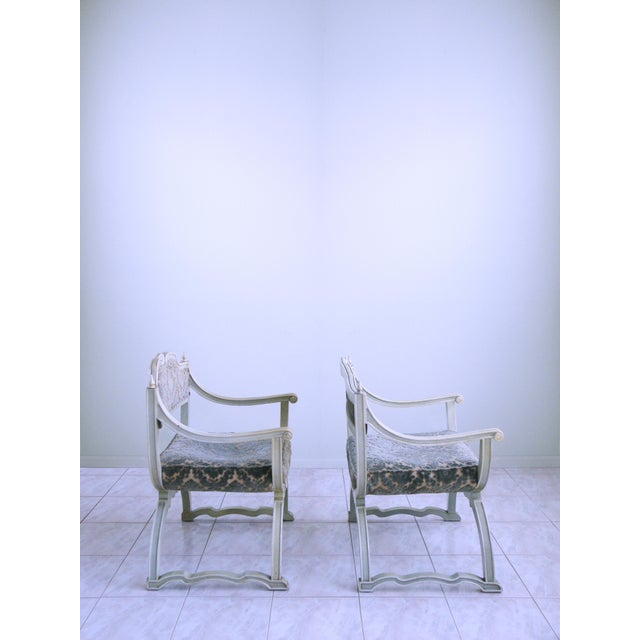 Hollywood Regency Louis XVI Provincial Chairs - A Pair For Sale - Image 3 of 12