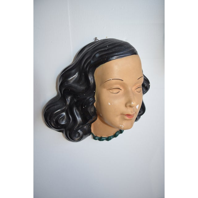 Mid Century Women's Face Masks - a Pair For Sale - Image 11 of 13