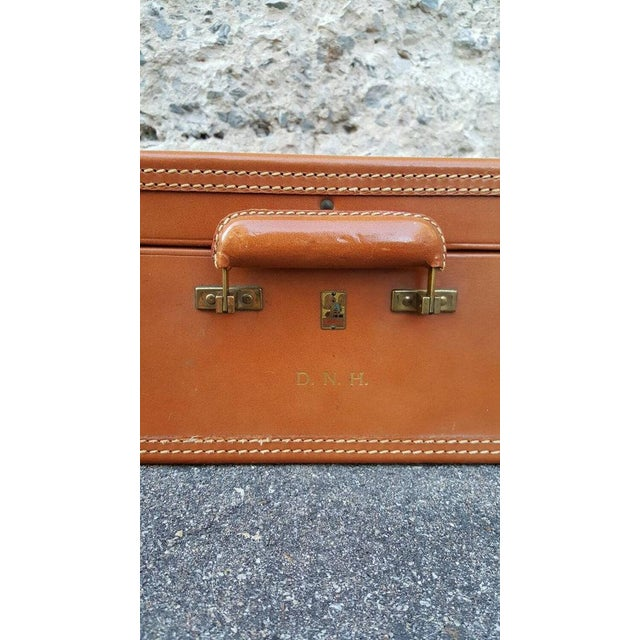 1950's Leather Suitcase Trunk - Image 4 of 5