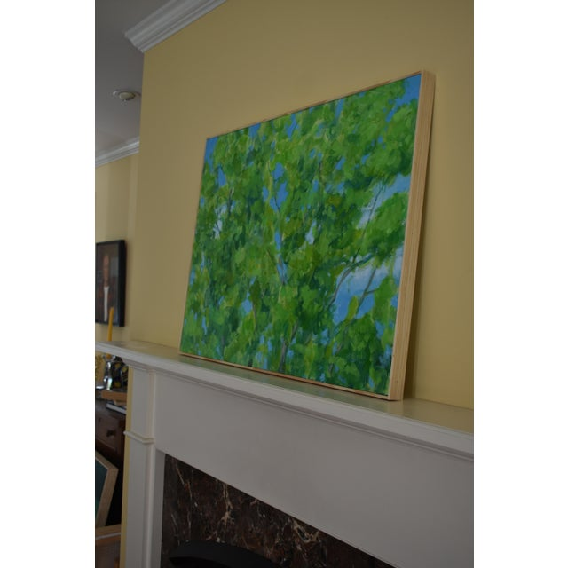 """2010s Contemporary Painting, """"Treetops Painting"""" by Stephen Remick For Sale - Image 9 of 12"""