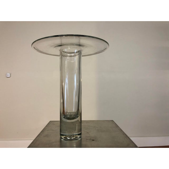 Transparent Mid 20th Century Blenko Hand Blown Glass Vase For Sale - Image 8 of 8