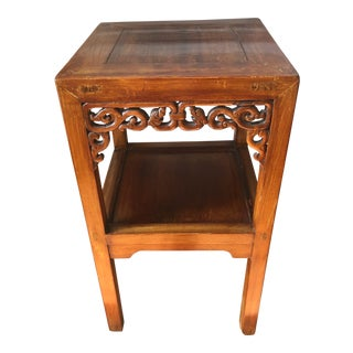 19th Century Chinese Elm 2-Tier Side Table For Sale