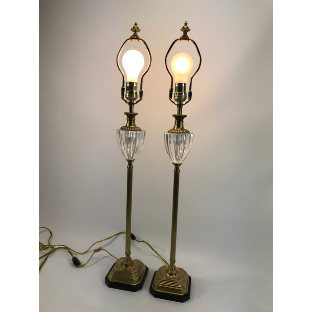 Frederick Cooper Brass & Lucite Buffet Lamps - A Pair - Image 3 of 10