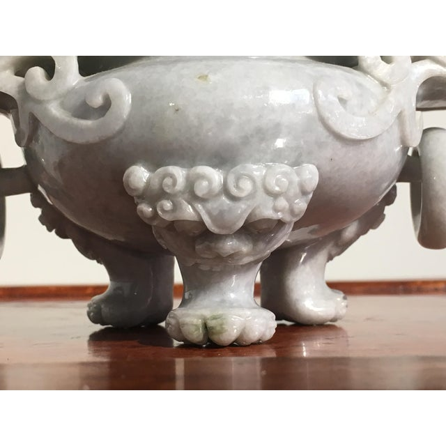Stone Chinese Gray Nephrite Jade Censer, mid 20th century For Sale - Image 7 of 9