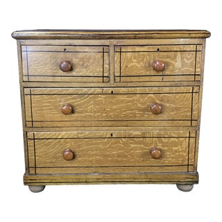 French Faux Grain Painted Chest of Drawers or Commode For Sale
