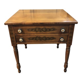 Traditional Hitchcock Side Table/Nightstand For Sale