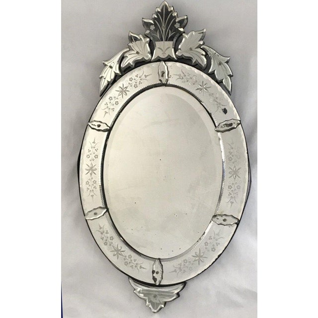 Large Venetian Antique Mirror From France For Sale In Portland, ME - Image 6 of 6