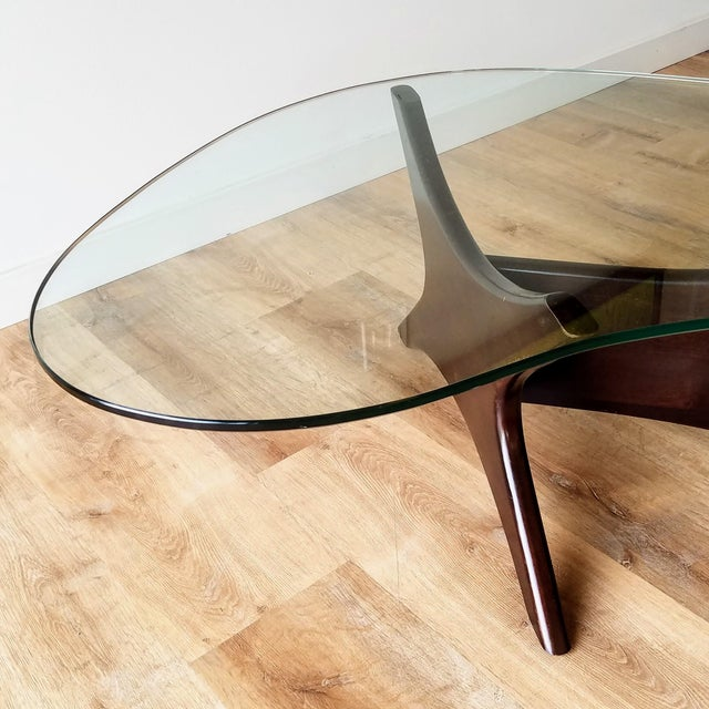Adrian Pearsall 1960s Adrian Pearsall Model 1465-T Boomerang Walnut Coffee Table, Unmarked For Sale - Image 4 of 13