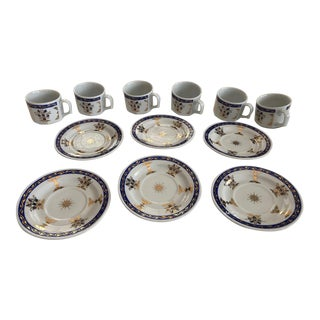 Turkish Coffee Set - 12 Pieces For Sale