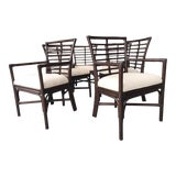 Image of Hollywood Regency Rattan Dining Chairs - Set of 6 For Sale