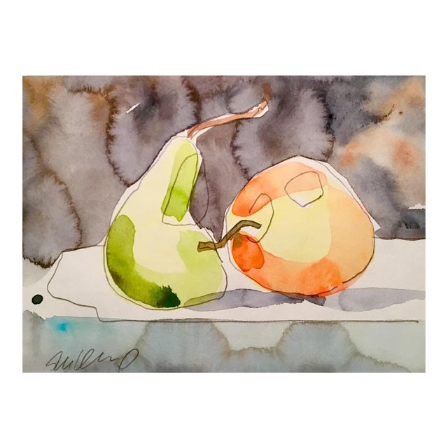 Apple & Pear Still Life Painting For Sale