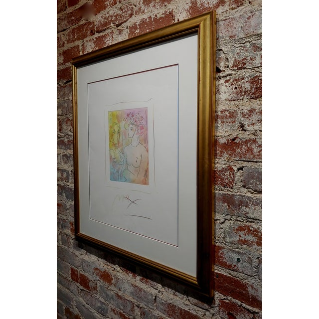 Ceramic Peter Max - Homage to Pablo Picasso -Original Color Etching For Sale - Image 7 of 9