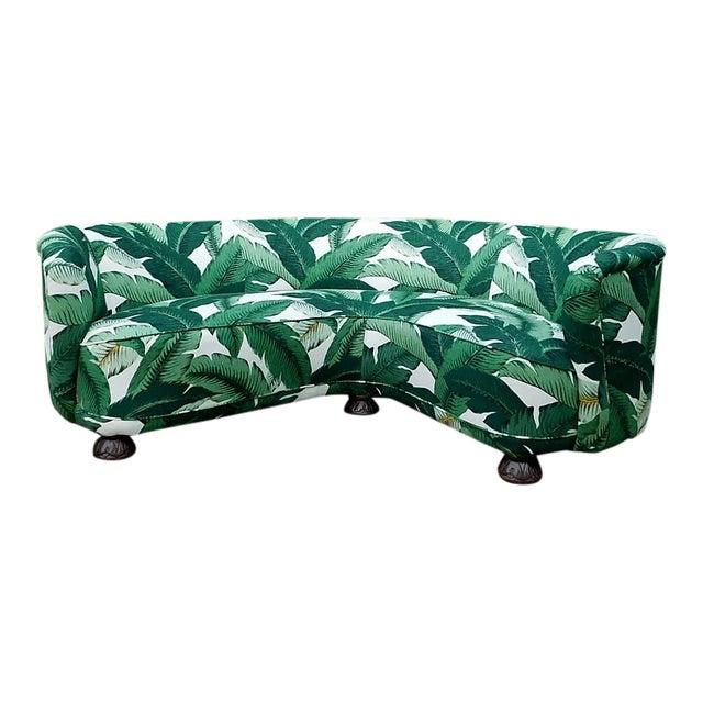 Palmier Curved Art Deco Sofa For Sale