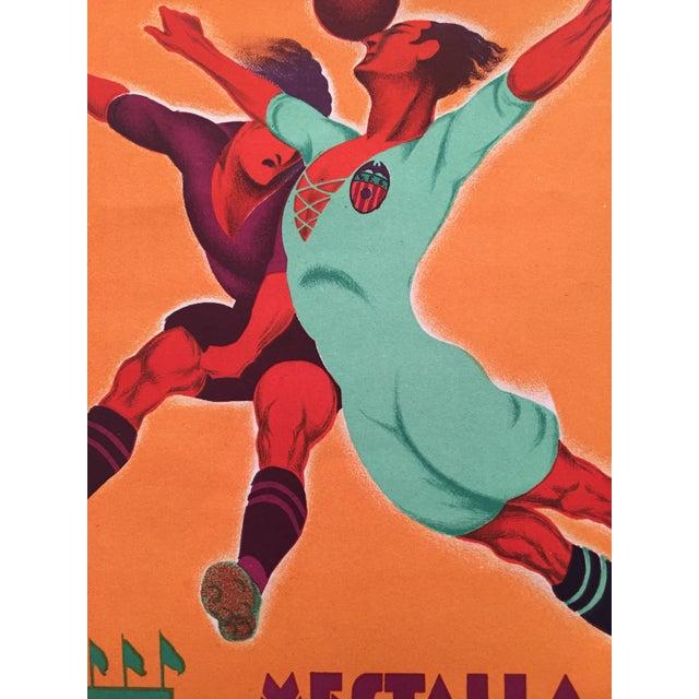 Original Vintage 1931 Spain Soccer Poster For Sale - Image 4 of 6