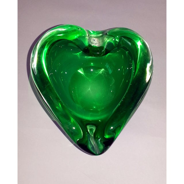 Art Glass Vintage Murano Curled Leaf Dish For Sale - Image 7 of 11