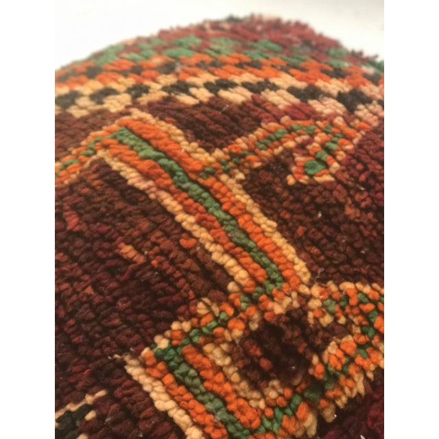 Vintage Moroccan Wool Pouf - Image 10 of 10