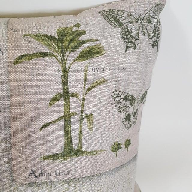 Green Botanical Bolster Pillow For Sale - Image 4 of 11