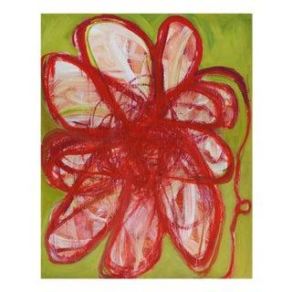 """Brenda Zappitell """"Flower Ii"""", Painting For Sale"""