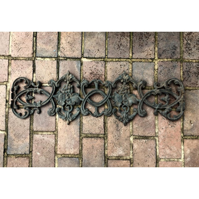Antique Rococo Vineyard Cast Iron Scrolling Wall Accent, Architectural Salvage - Image 2 of 5