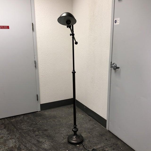 Pottery Barn Bronze Finish Floor Lamp - Image 2 of 7