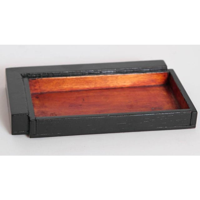 Copper Machine Age Art Deco Asymmetric Covered Box in Copper, Catalin and Lacquer For Sale - Image 8 of 11