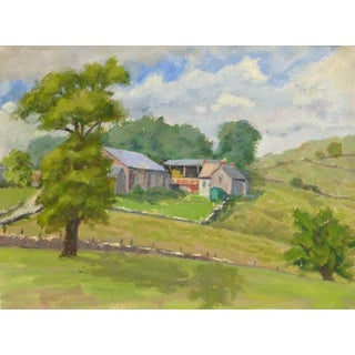 M. Powell, English Watercolor Landscape - Countryside Scene For Sale