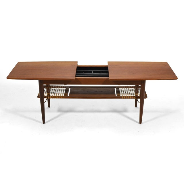 Danish Teak Extension Coffee Table For Sale - Image 4 of 13