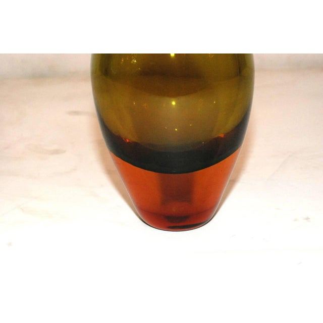 Mid-Century Modern Seguso Murano Glass Vase For Sale - Image 3 of 5